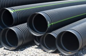 Pitch fibre pipes