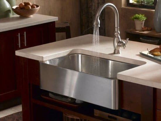 verity apron front undercounter kitchen sink