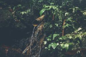 Pipe discharging into water