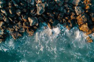Ocean Waves Hitting the Rocks