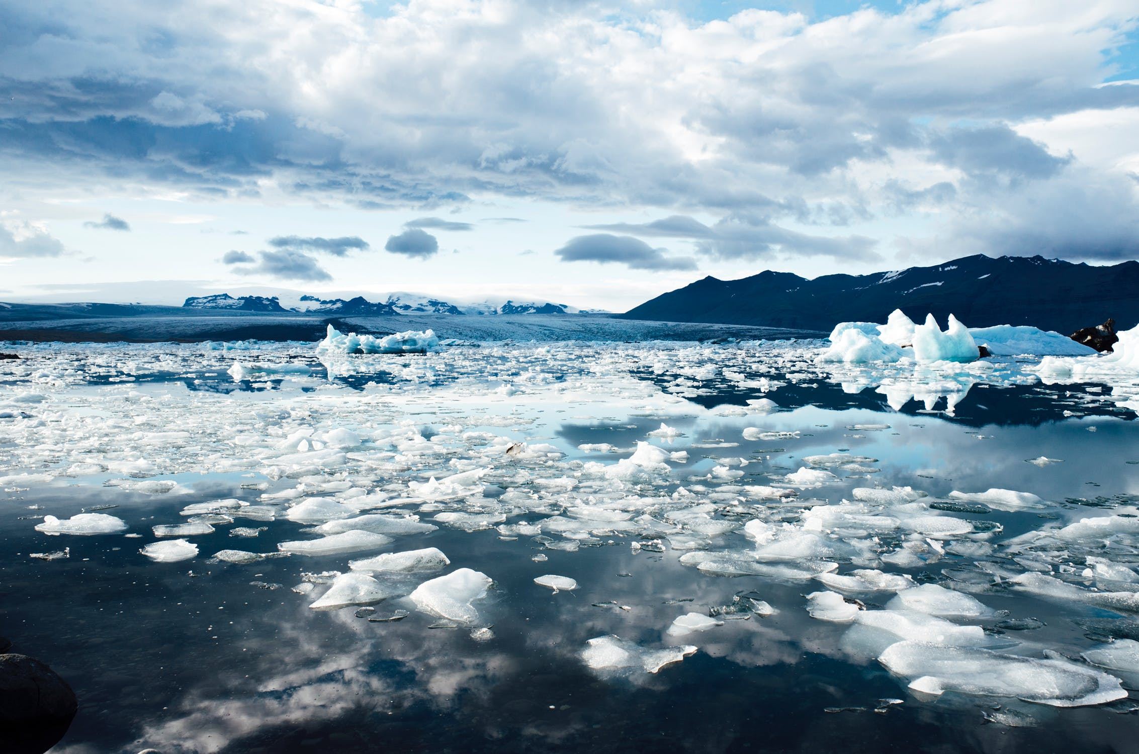 Melting ice in the Arctic result of climate change