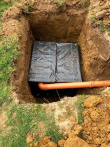 New sewage plant installation to replace old x 6