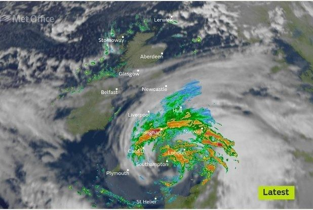 Storm Angus Continues to Terrorise Britain